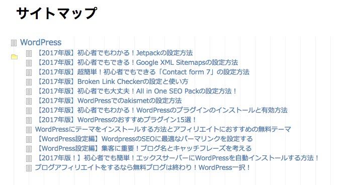 PS Auto Sitemapのスタイル一覧〜ドキュメントツリー〜